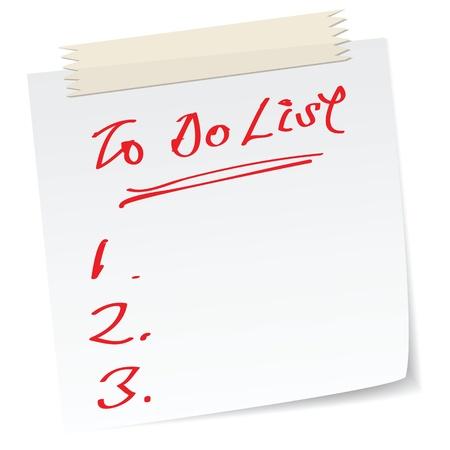 hacer: una nota con el mensaje escrito a mano, como para hacer la lista.