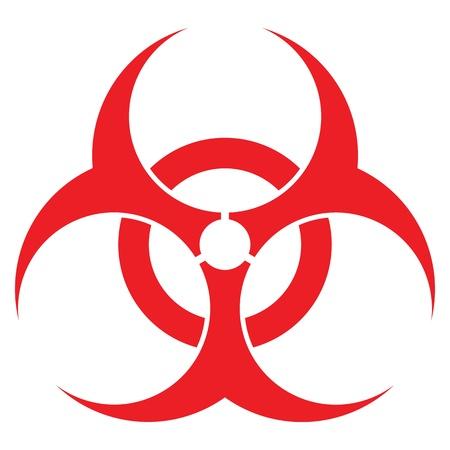 residuos toxicos: señal de peligro biológico, formato vectorial, para los conceptos de la industria de la salud.