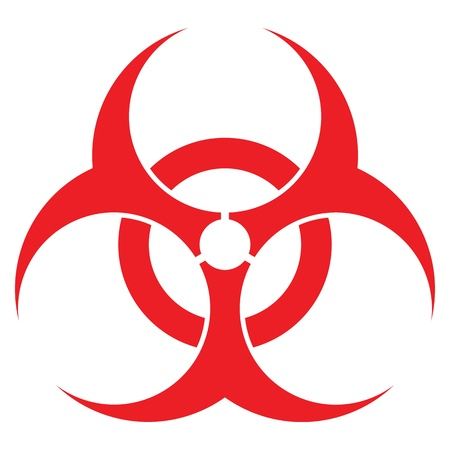 hazardous: segnale di rischio biologico, formato vettoriale, per i concetti di salute del settore.