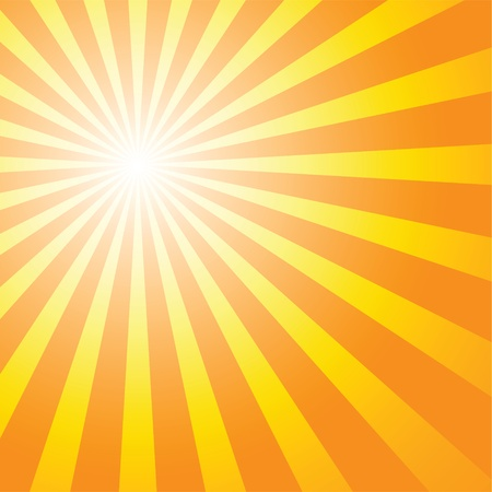 sunburst background to illustrate the warm day of summer. Vector