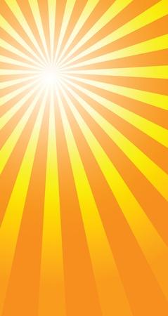 방사상: 여름의 따뜻한 날을 설명하는 햇살 배경.