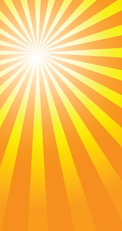 retro sunrise: sunburst background to illustrate the warm day of summer.