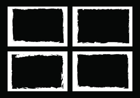 frontières grunge, cadres, pour l'image ou la photo. un format vectoriel.