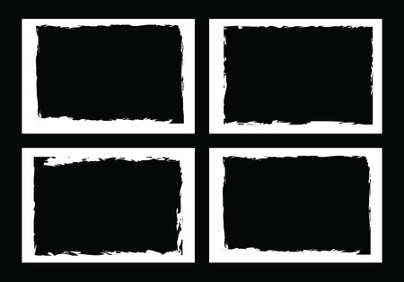 vector borders: grunge borders, frames, for image or photo. vector format.