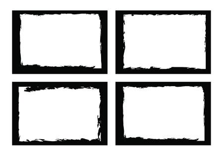 grunge photo frame: confini grunge, cornici, per l'immagine o una foto. formato vettoriale.