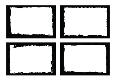 grunge textures: grunge borders, frames, for image or photo. vector format.