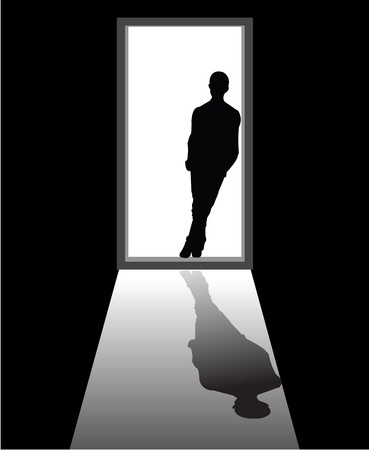 appear: to illustrate a dream boy that appear in front of door.
