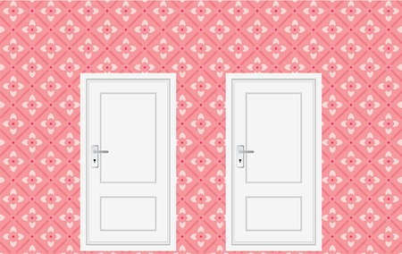 room with colorful wall, for kid room. Vector