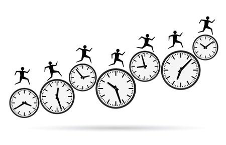 ilustraciones de vectores de los conceptos de ocupados, acabando el tiempo. Ilustración de vector