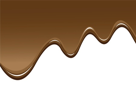 chocolate background to illustrate melted chocolate Ilustrace