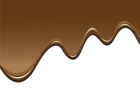 chocolate melt: cioccolato sfondo per illustrare cioccolato fuso Vettoriali