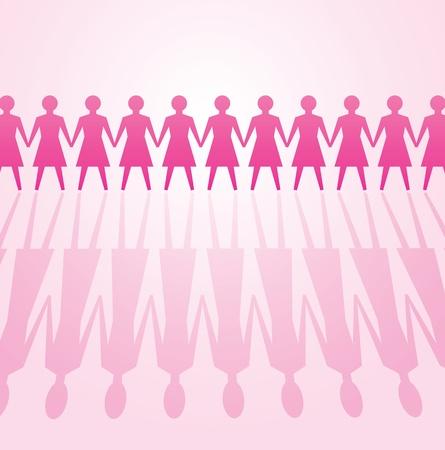 feminismo: ilustrar el poder de la mujer concepto, el feminismo Vectores