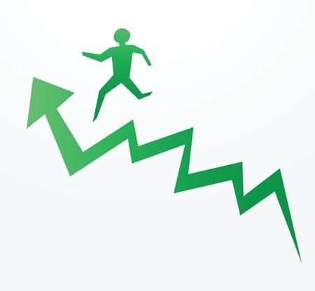 pour illustrer les progrès d'une économie tendance à la hausse ou de la montée de l'entreprise.