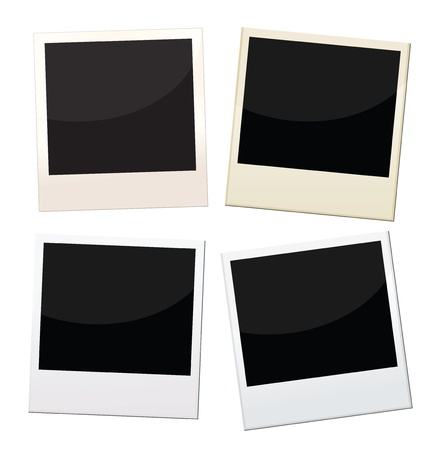 Polaroid frames, 4 pieces of polaroid with different conditions. Vector