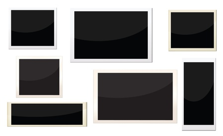 photo frames with different size, can replace image and message on it. Vector