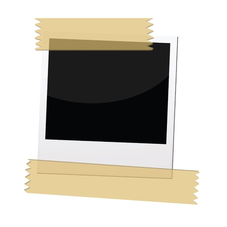 masking tape: an illustrations of pictures frame with masking tape. Illustration