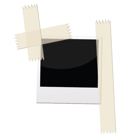 masking tape: an illustrations of  pictures frame with masking tape.