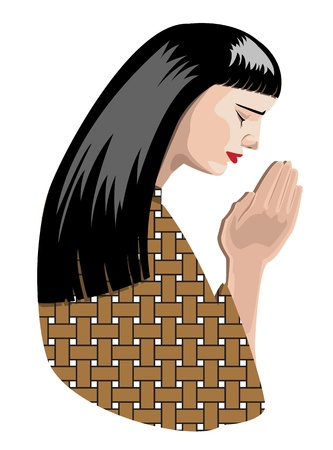 illustration of praying woman, vector format. Stock Vector - 11822974
