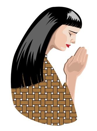 illustration of praying woman, vector format. Stock Vector - 11822974
