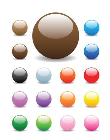 coated: glossy, shiny candy looking buttons for website, internet, design and other usage.  Illustration