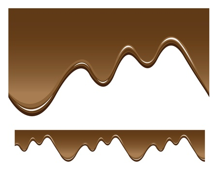 melted chocolate: seamless chocolate background, dripping liquid.