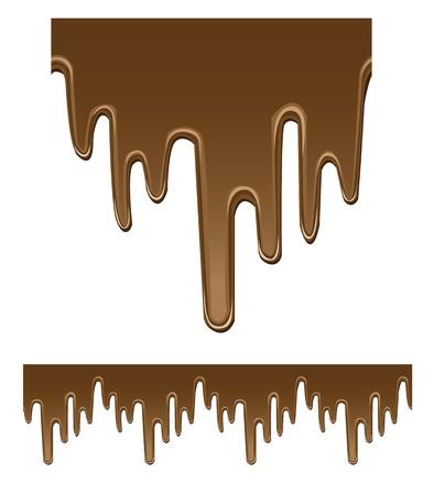dripping chocolate: seamless chocolate background, dripping liquid.