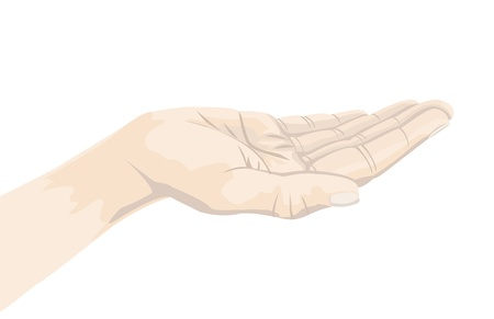 a hand for conceptual usage, vector format. Vector