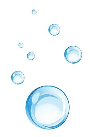 format: water bubbles illustration, vector format