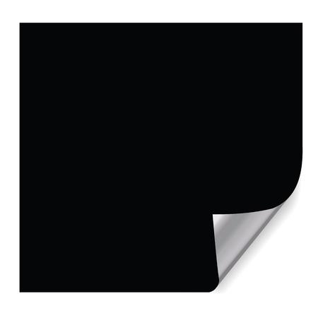 realistische papier pagina met hoek krullen effecten.