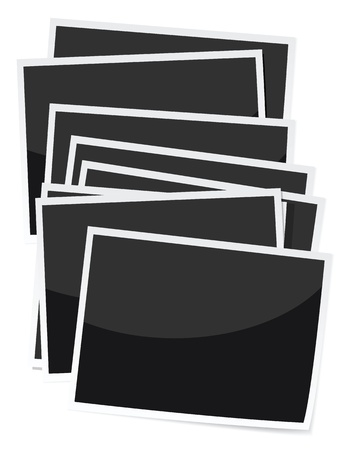 stack of photo prints illustrations. Stock Vector - 11823349