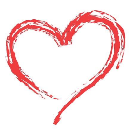 corazón diseño de la forma de símbolos del amor. Ilustración de vector