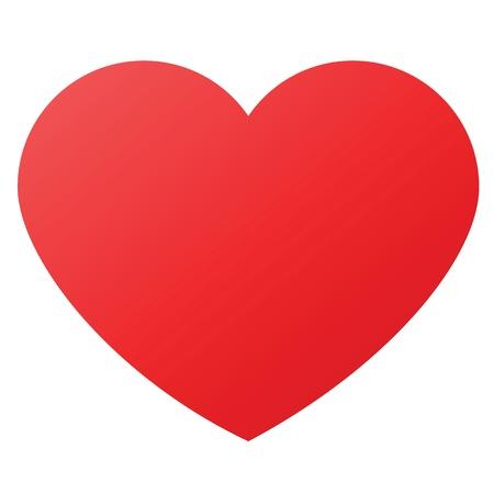Herz-Form-Design für die Liebe Symbole. Vektorgrafik