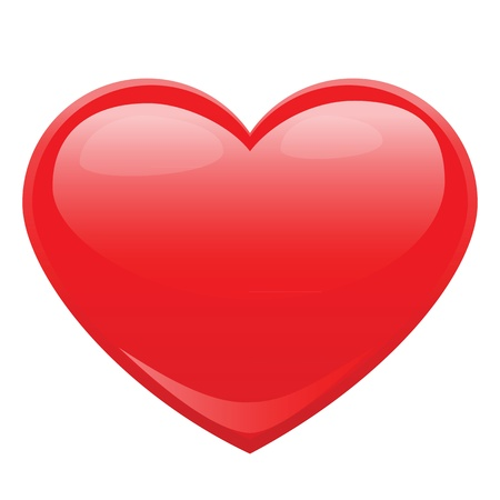 romantic heart: heart shape design for love symbols.