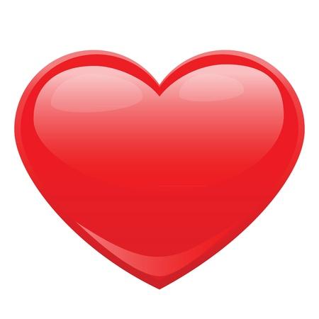 ontwerp van de hartvorm voor de liefde symbolen.
