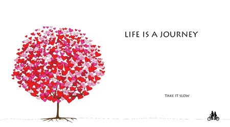 liefde boom serie, kaart ontwerp voor Valentijnsdag