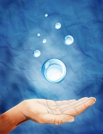 psychic: para ilustrar la mano con el poder spirtiual. Foto de archivo