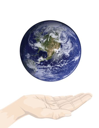 earth conservation concepts, to care or heal the earth. Stock Photo - 11823389