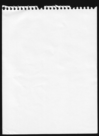 lined pages notebook page isolated on black for layout design