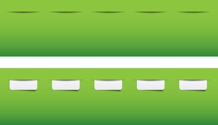 website navigation tabs Stock Vector - 12231926