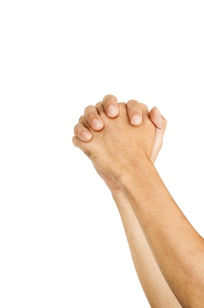 clasps: isolated hands for praying or begging gestures