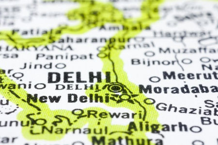 new delhi: a close up shot of delhi and new delhi, city of India Stock Photo