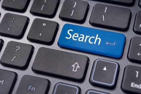 concepts of internet search engine, with message on enter key of computer keyboard Stock Photo - 13812243