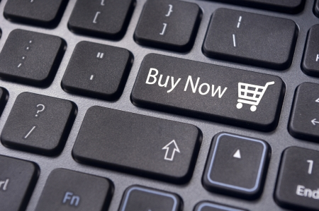 Buy now concepts, with message on computer keyboard  photo