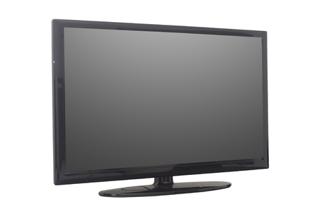 isolated flat screen tv or computer monitor Stock Photo