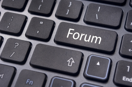 forum, online or internet discussion, a popular to way communicate in internet. Stock Photo - 14396052