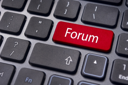 forum, online or internet discussion, a popular to way communicate in internet. Stock Photo - 14396045