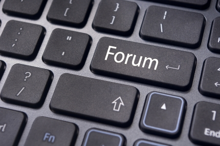 forum, online or internet discussion, a popular to way communicate in internet. Stock Photo - 14396054