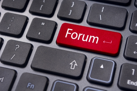 forum, online or internet discussion, a popular to way communicate in internet. Stock Photo - 14396046
