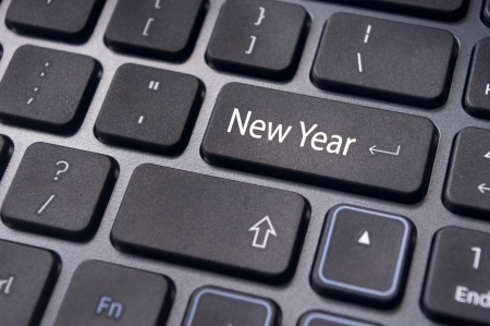 Photo of close up on keyboard pad, for new year greetings and concepts. photo