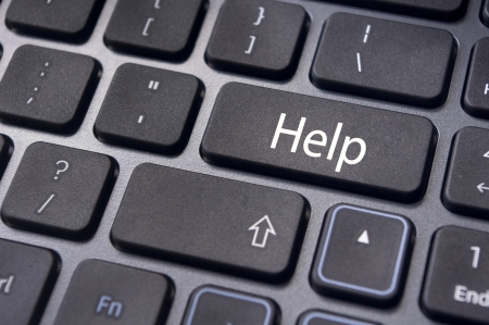 help button for internet assistance concepts   Stock Photo - 17035660
